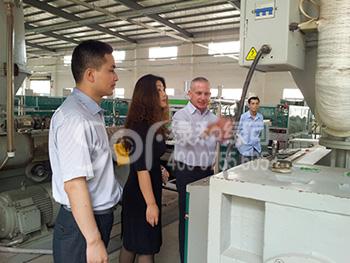 集团总裁参观绿和工厂