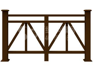 公园木塑围栏/塑木木塑栏杆