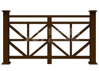 木塑河道护栏/塑木木塑栏杆