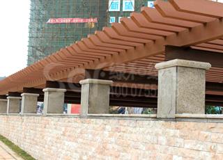 出入口塑木廊架/塑木木塑花架
