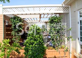 木塑葡萄架/塑木木塑花架