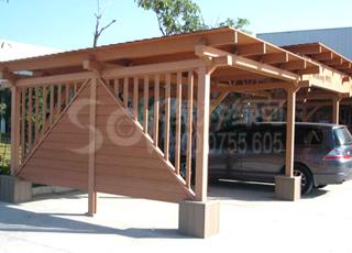木塑停车篷廊架/塑木木塑花架