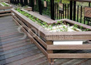 木塑仿木花箱/塑木木塑花箱