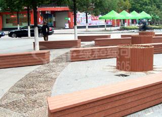 圆形木塑花箱/塑木木塑花箱