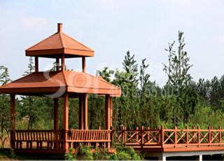 木塑公园凉亭/塑木木塑凉亭