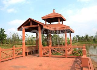 木塑双层凉亭/塑木木塑凉亭