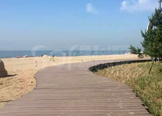 木塑海边栈道/塑木栈道