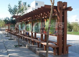 广告牌展示木塑花架/塑木木塑花架