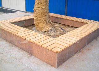 木塑围树凳/塑木木塑围树椅