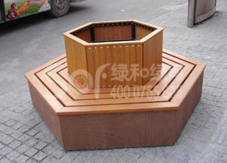塑木休闲围树凳/塑木木塑围树椅