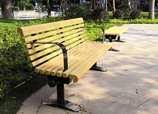 公园塑木休闲椅/塑木木塑休闲椅